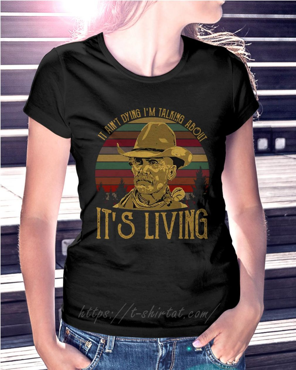 Larry McMurtry it ain't dying I'm talking about it's living vintage Ladies Tee