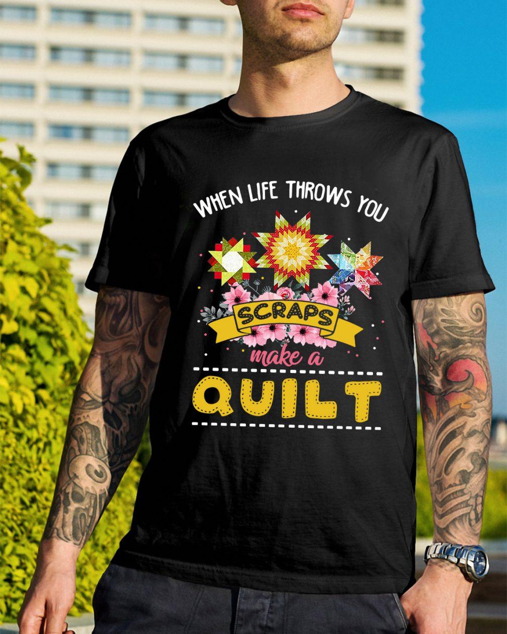 When life throws you scraps make a quilt shirt