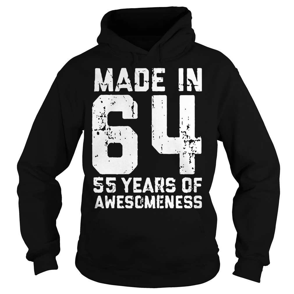 Made in 64 55 years of awesomeness Hoodie