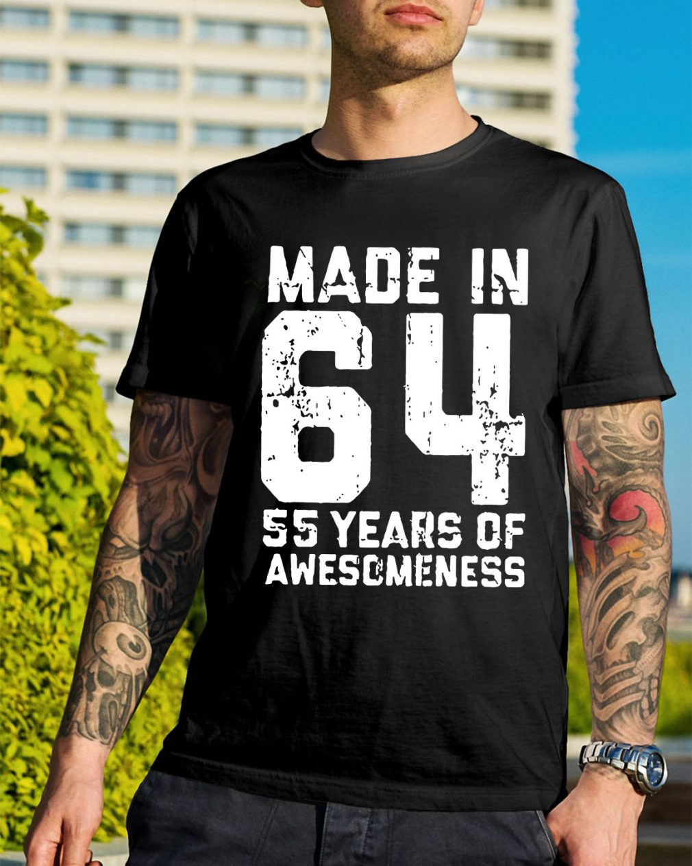 Made in 64 55 years of awesomeness shirt