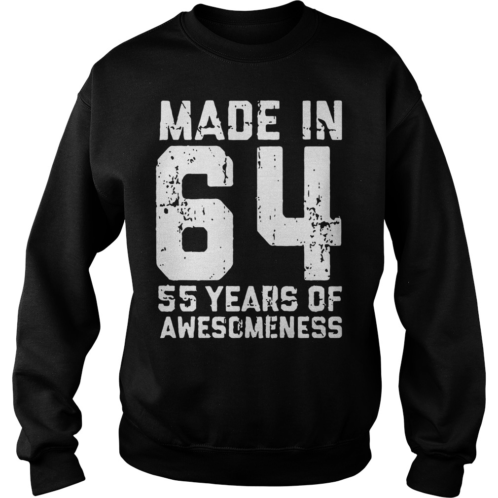 Made in 64 55 years of awesomeness Sweater