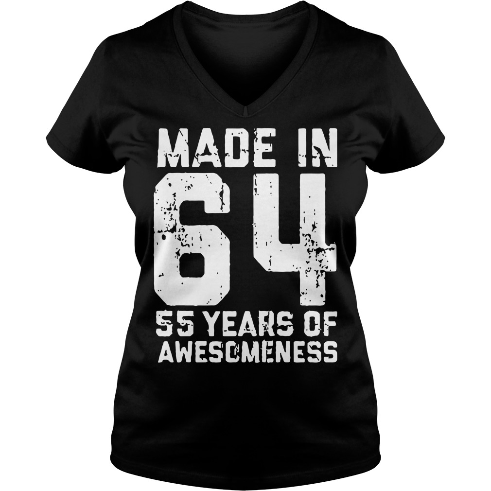Made in 64 55 years of awesomeness V-neck T-shirt