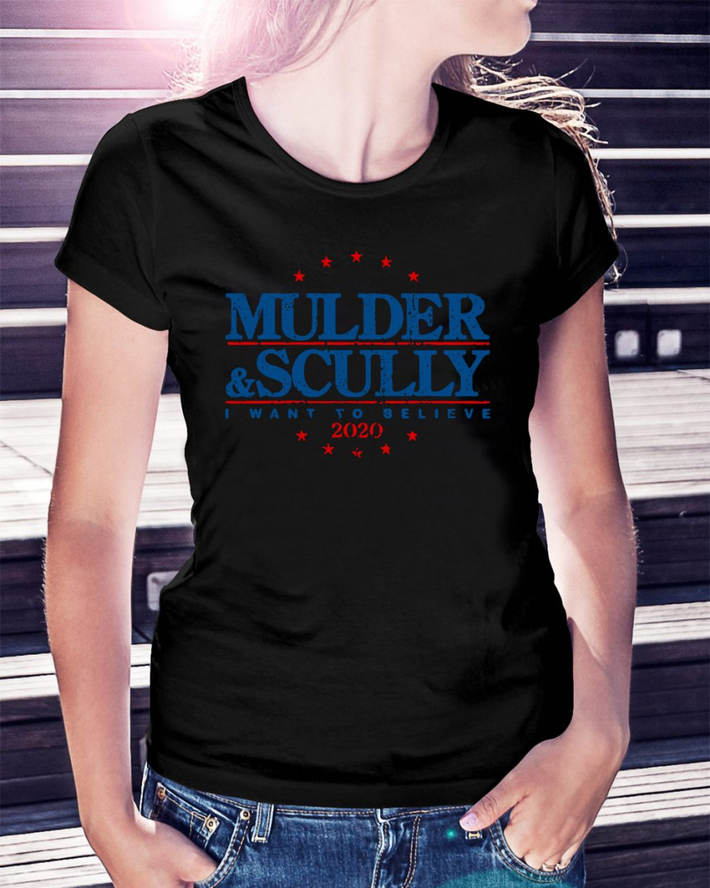 Mulder and Scully I want to believe 2020 Ladies Tee