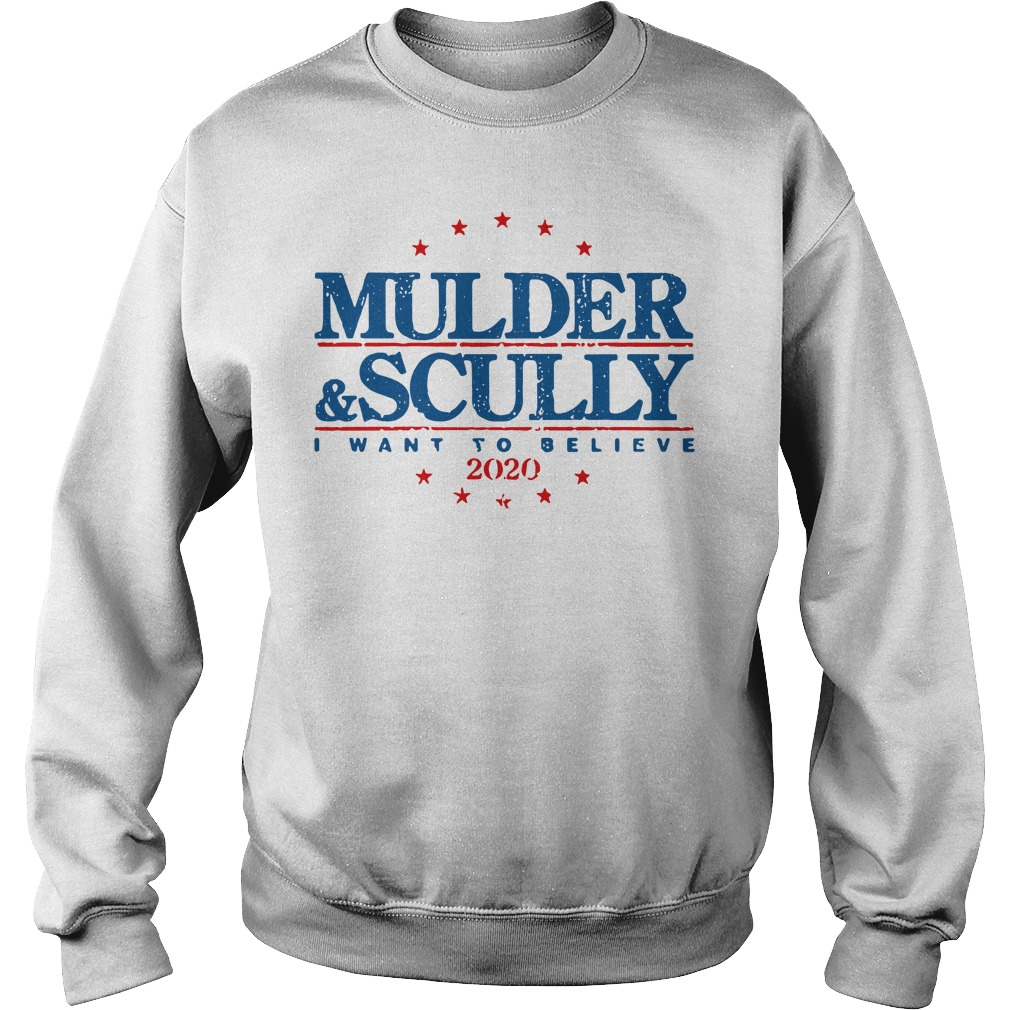 Mulder and Scully I want to believe 2020 Sweater