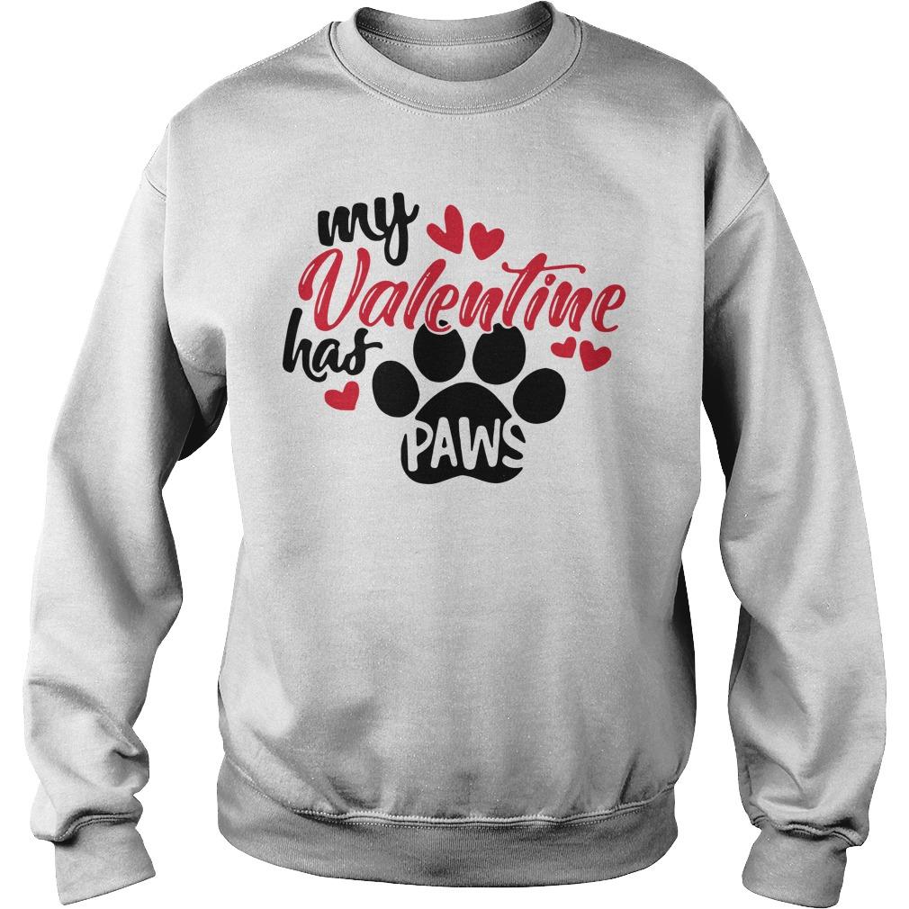 My Valentine has paws Sweater