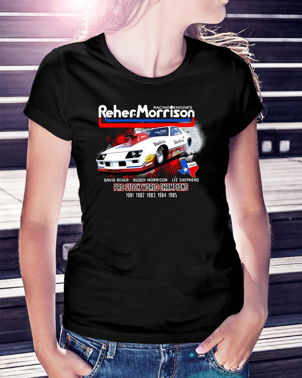 Racing engines Reher Morrison Devid Reher Buddy Morrison Ladies Tee