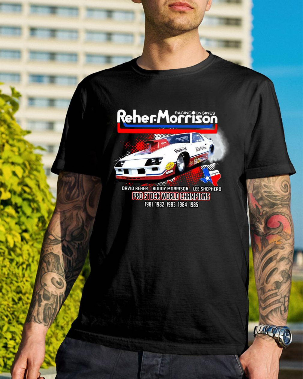 Racing engines Reher Morrison Devid Reher Buddy Morrison shirt