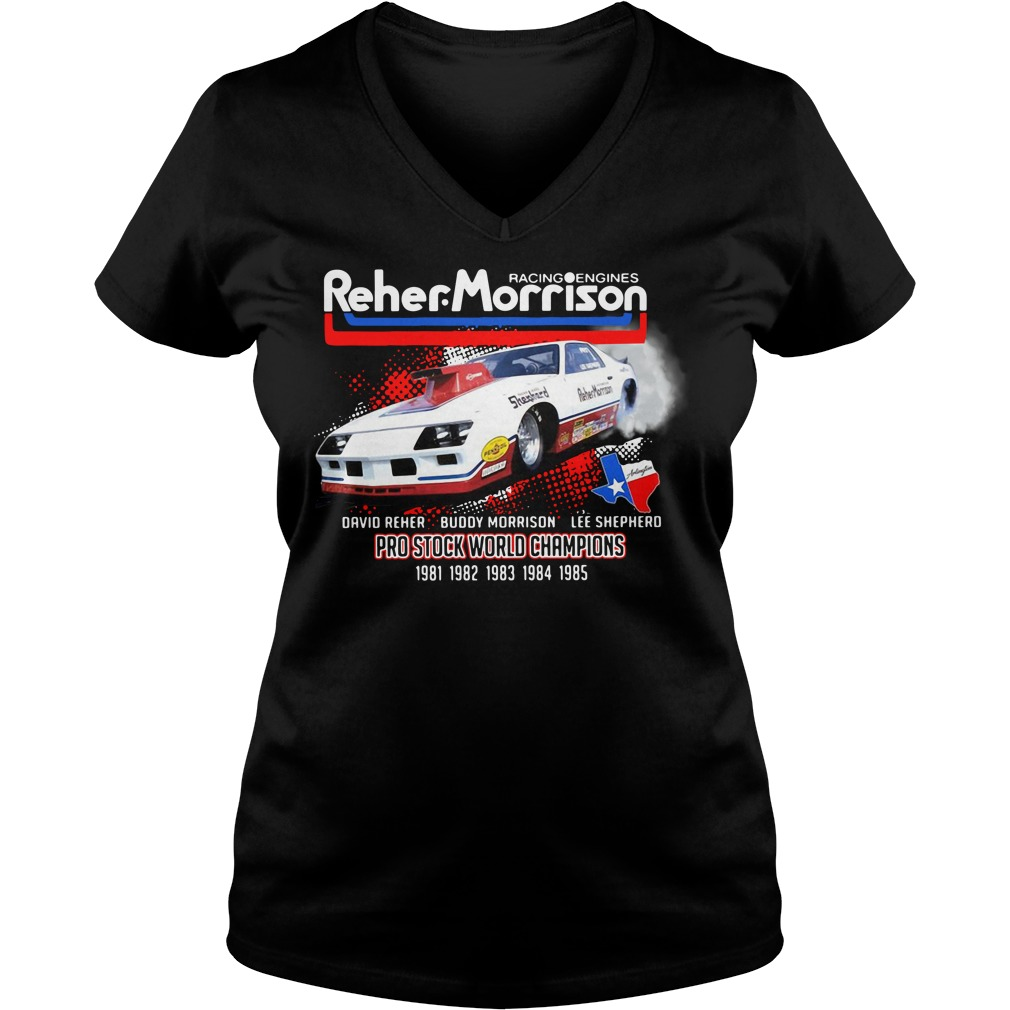 Racing engines Reher Morrison Devid Reher Buddy Morrison V-neck T-shirt