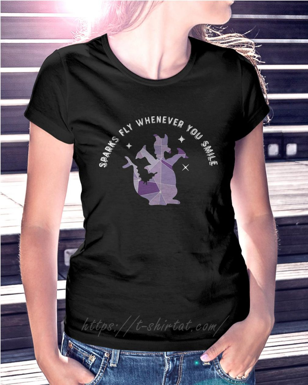 Saurus sparks fly whenever you smile Ladies Tee