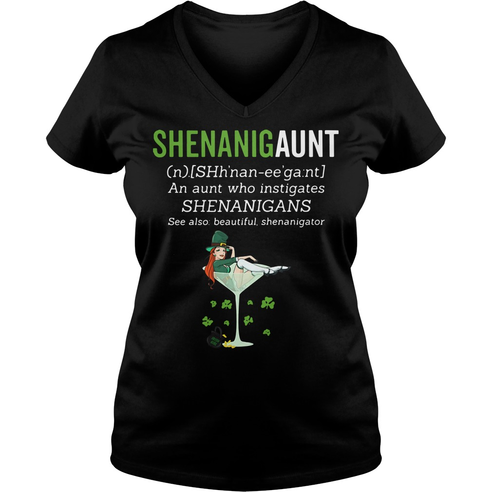 Shenanigunt definition V-neck T-shirt