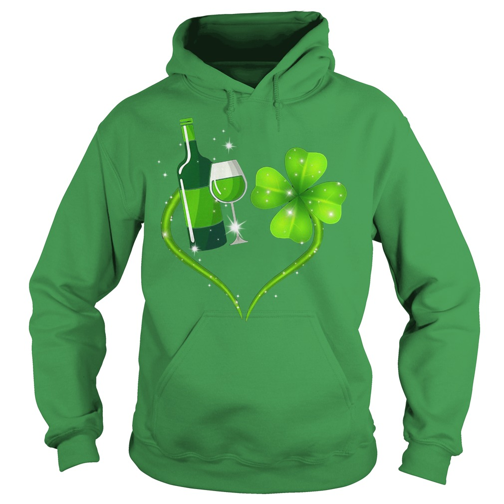 St Patrick's day love Shenanigans and wine Hoodie