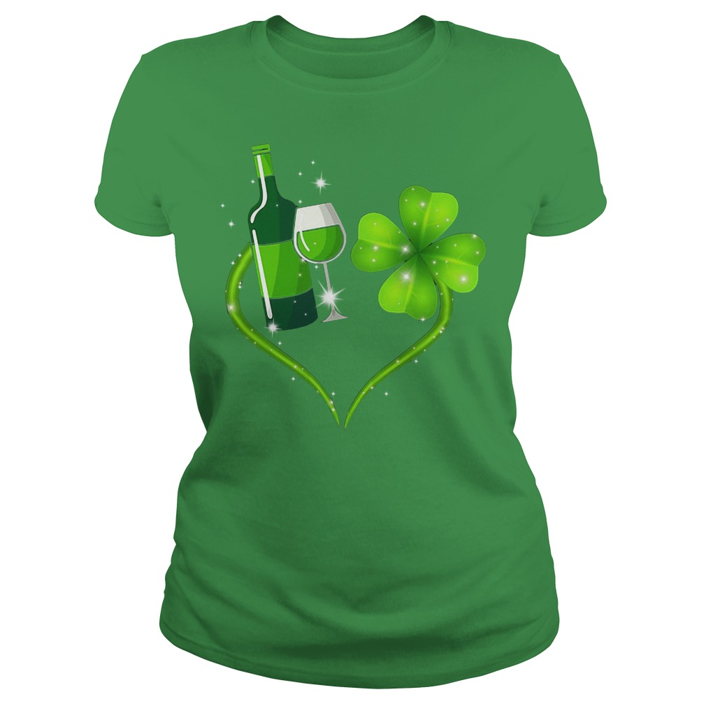 St Patrick's day love Shenanigans and wine Ladies Tee