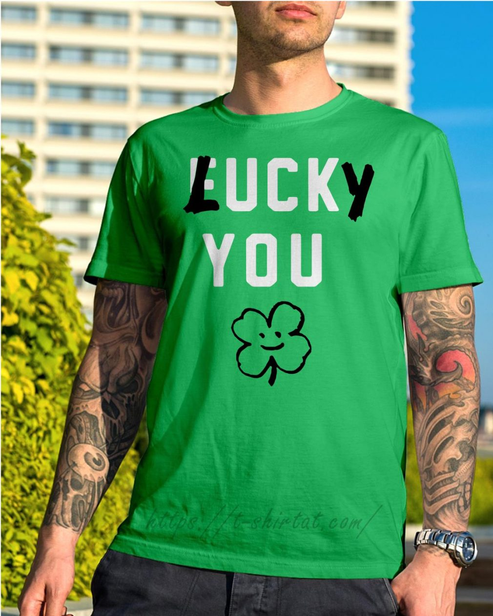 St Patrick's day lucky fuck you Shirt green