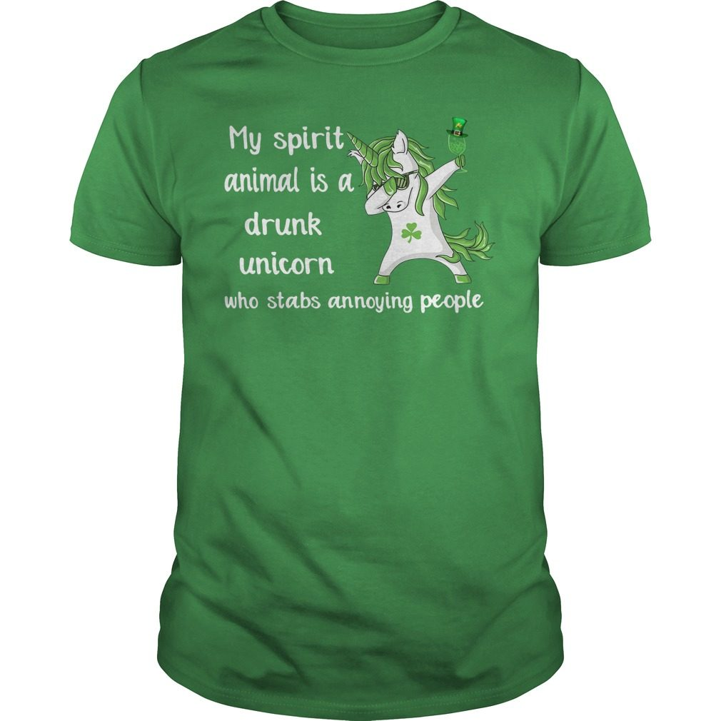 St Patrick's day my spirit animal is a drunk unicorn shirt