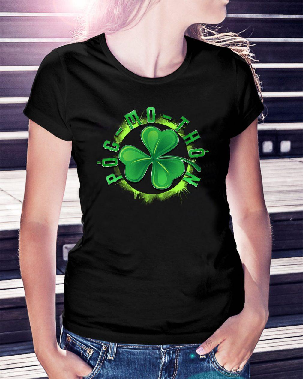 St Patrick's day Pog-mo-thoin Ladies Tee