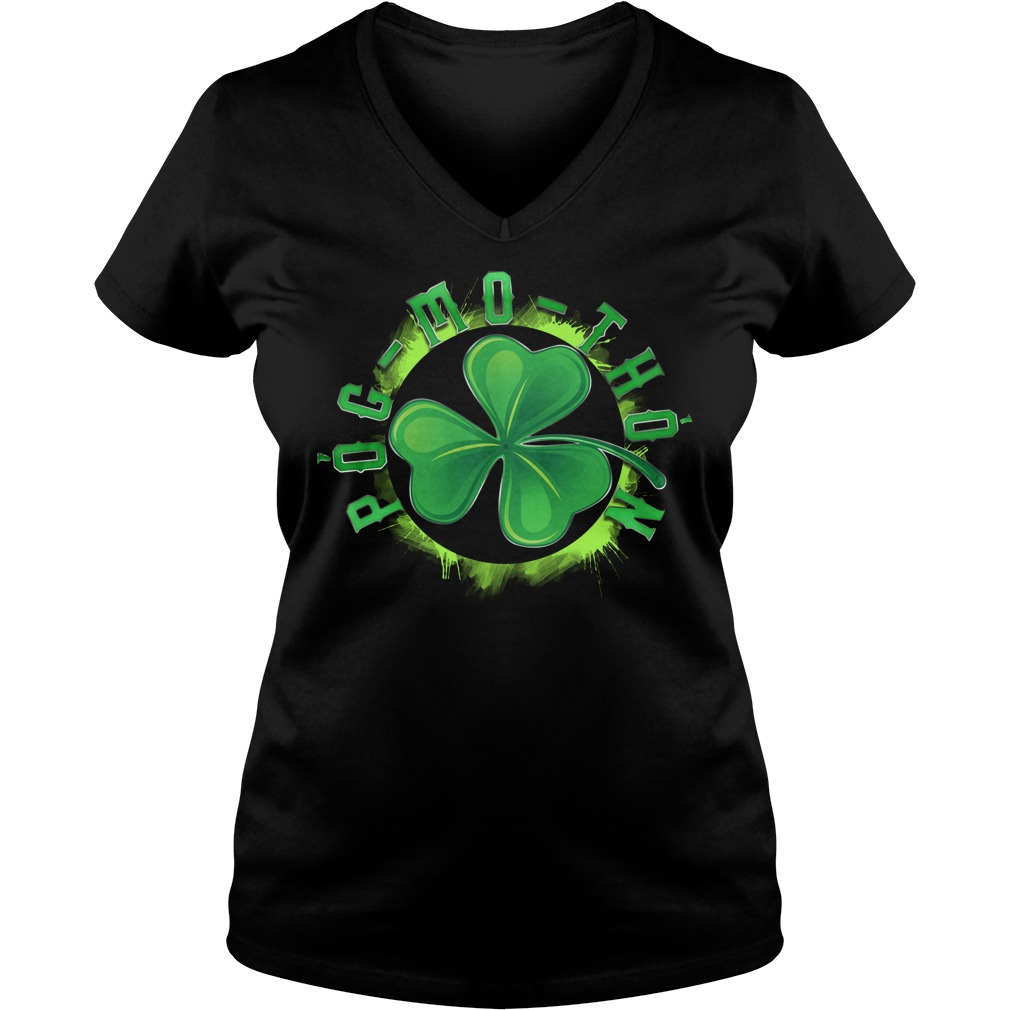 St Patrick's day Pog-mo-thoin V-neck T-shirt