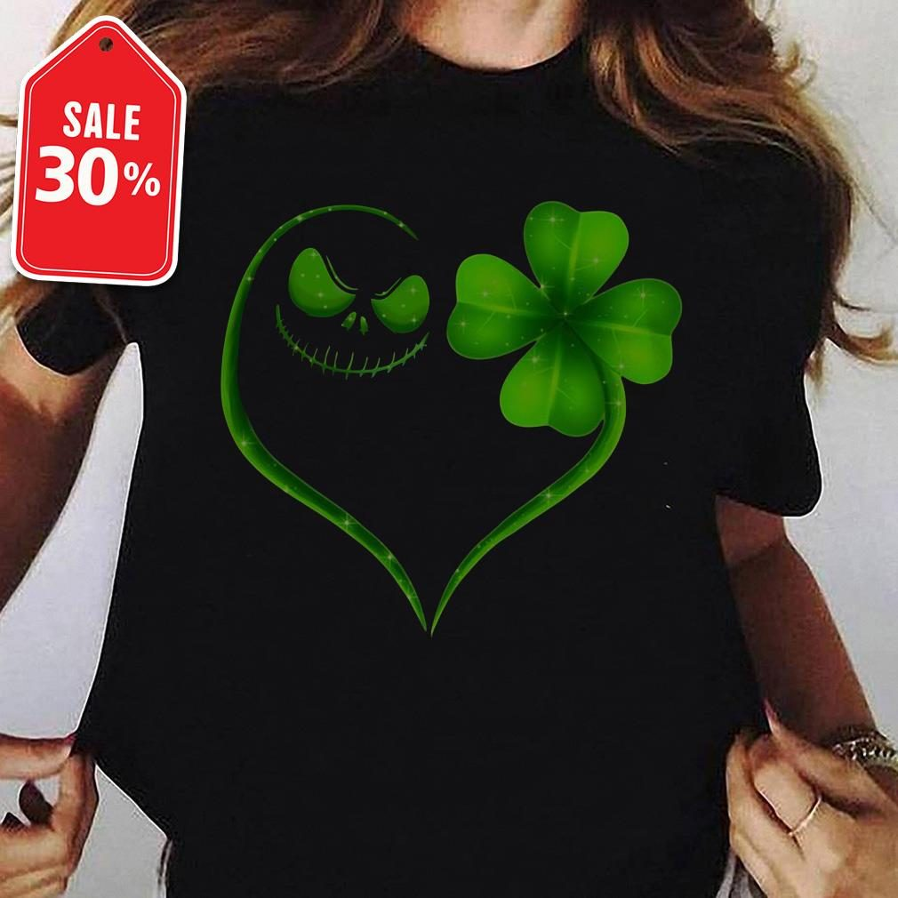 St Patrick's day Skeleton love Shamrock Ladies Tee