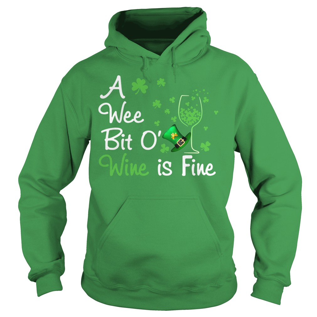 St Patrick's day a wee bit o' wine is fine Sweater
