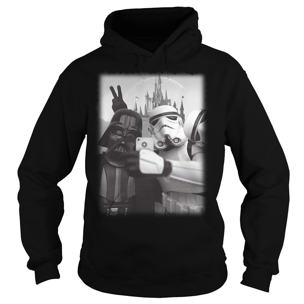Star Wars Stormtrooper and Darth Vader selfie together Hoodie