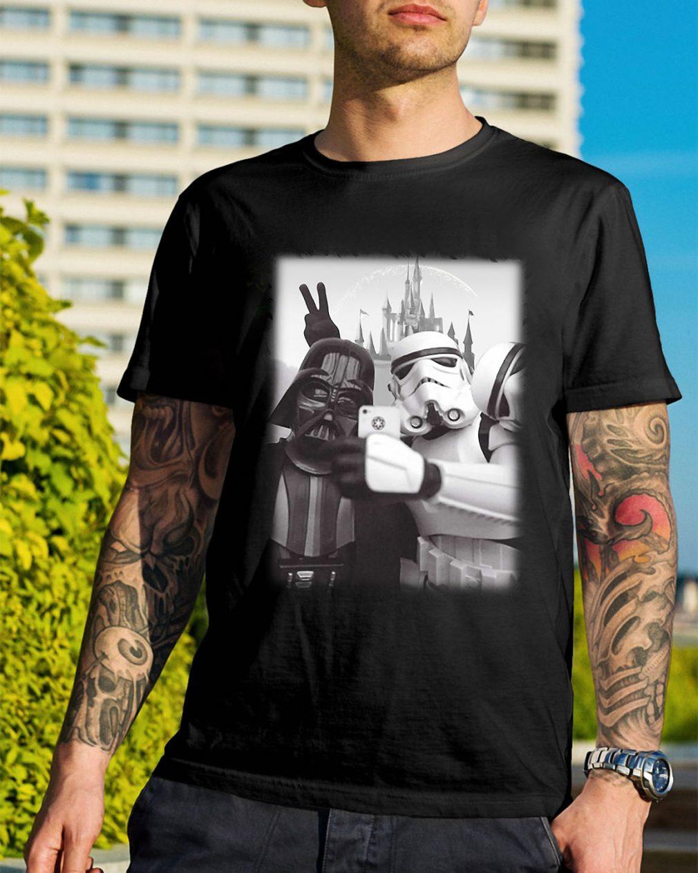 Star Wars Stormtrooper and Darth Vader selfie together shirt