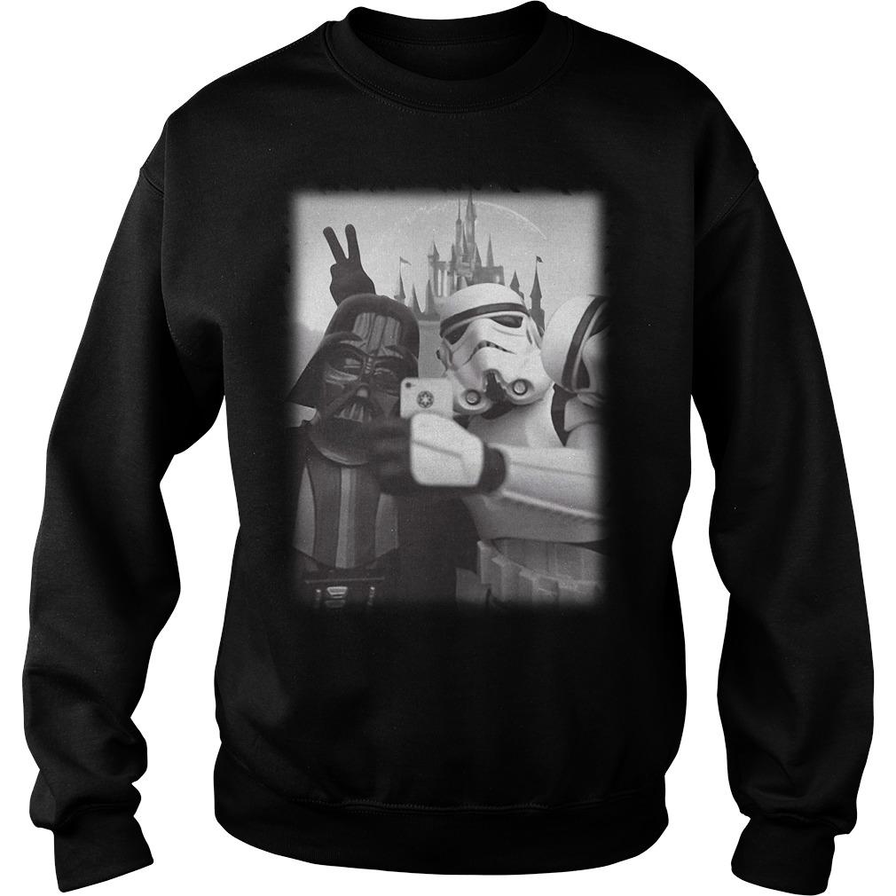 Star Wars Stormtrooper and Darth Vader selfie together Sweater