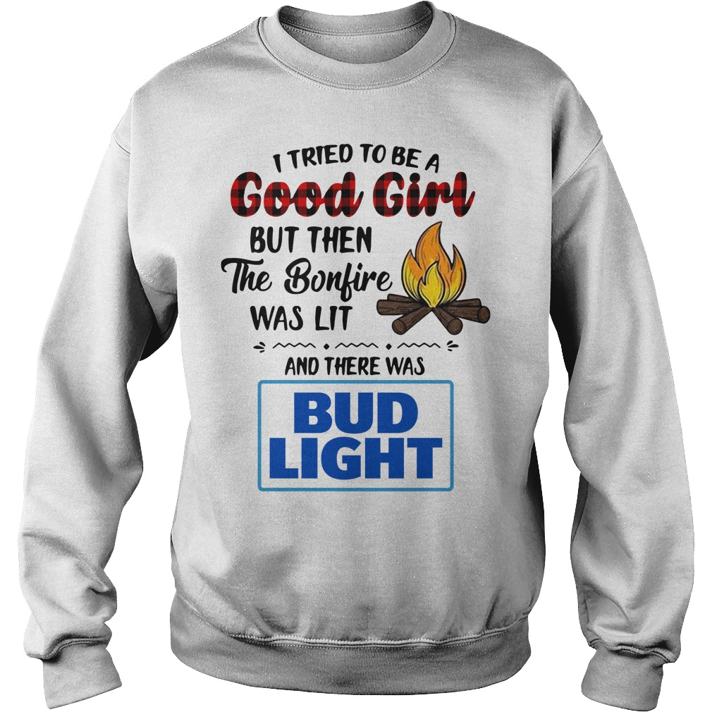 The bonfire was lit and there was Bud Light Sweater