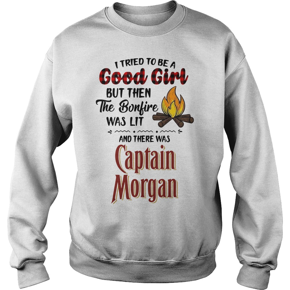 The bonfire was lit and there was Captain Morgan Sweater