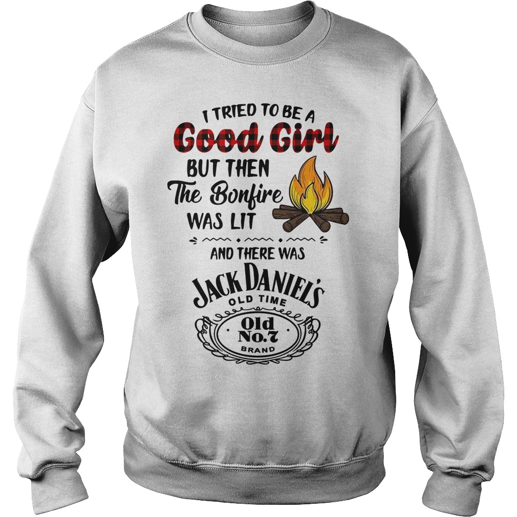 The bonfire was lit and there was Jack Daniels Sweater