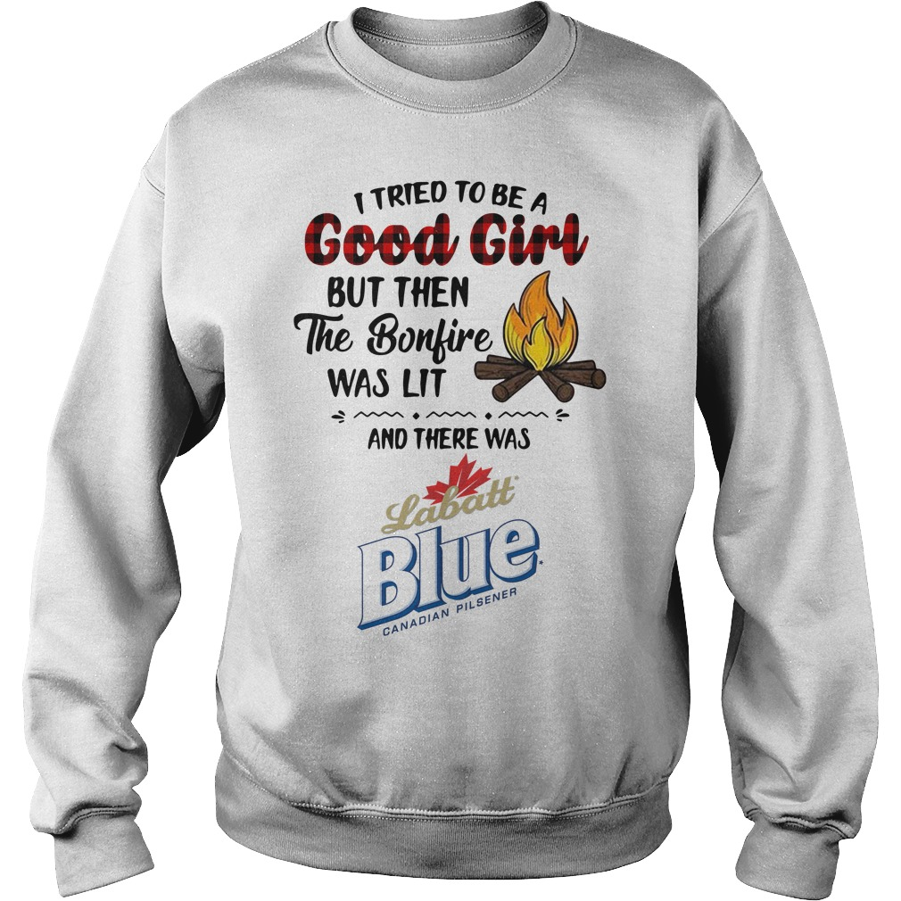 The bonfire was lit and there was Labatt Blue Sweater