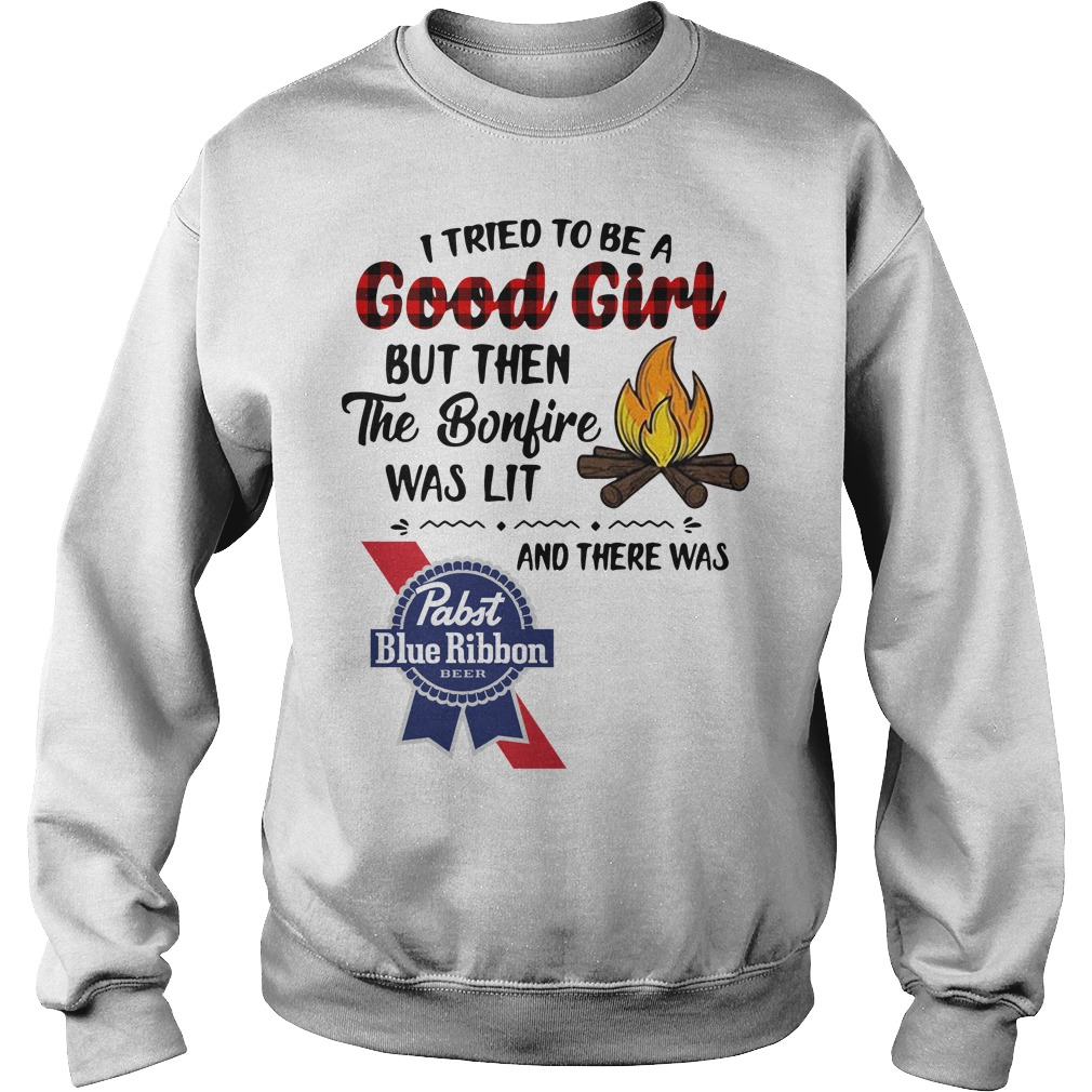 The bonfire was lit and there was Pabst Blue Ribbon Sweater