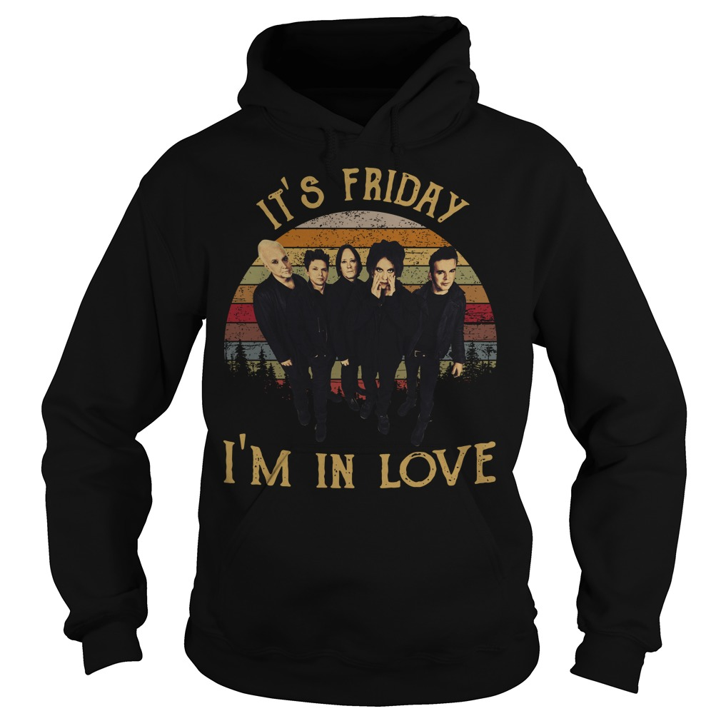 The Cure it's Friday I'm in love vintage Hoodie