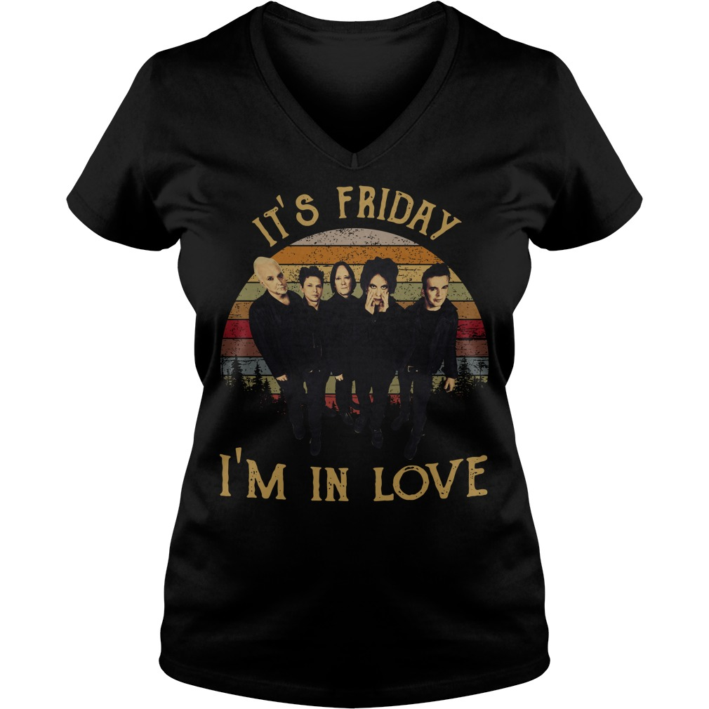 The Cure it's Friday I'm in love vintage V-neck T-shirt