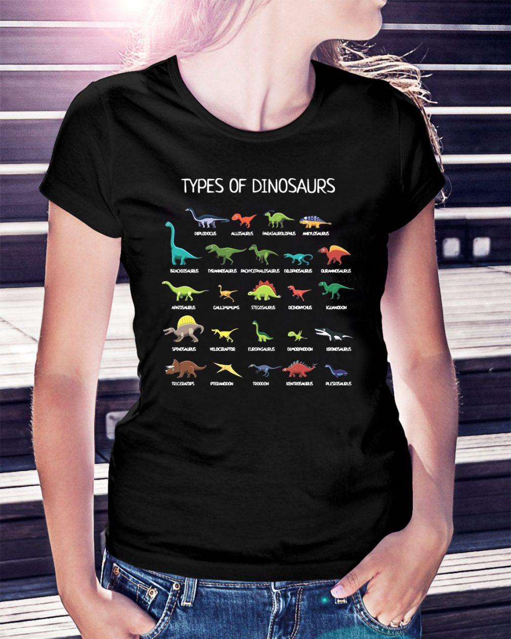 Types of Dinosaurs Ladies Tee