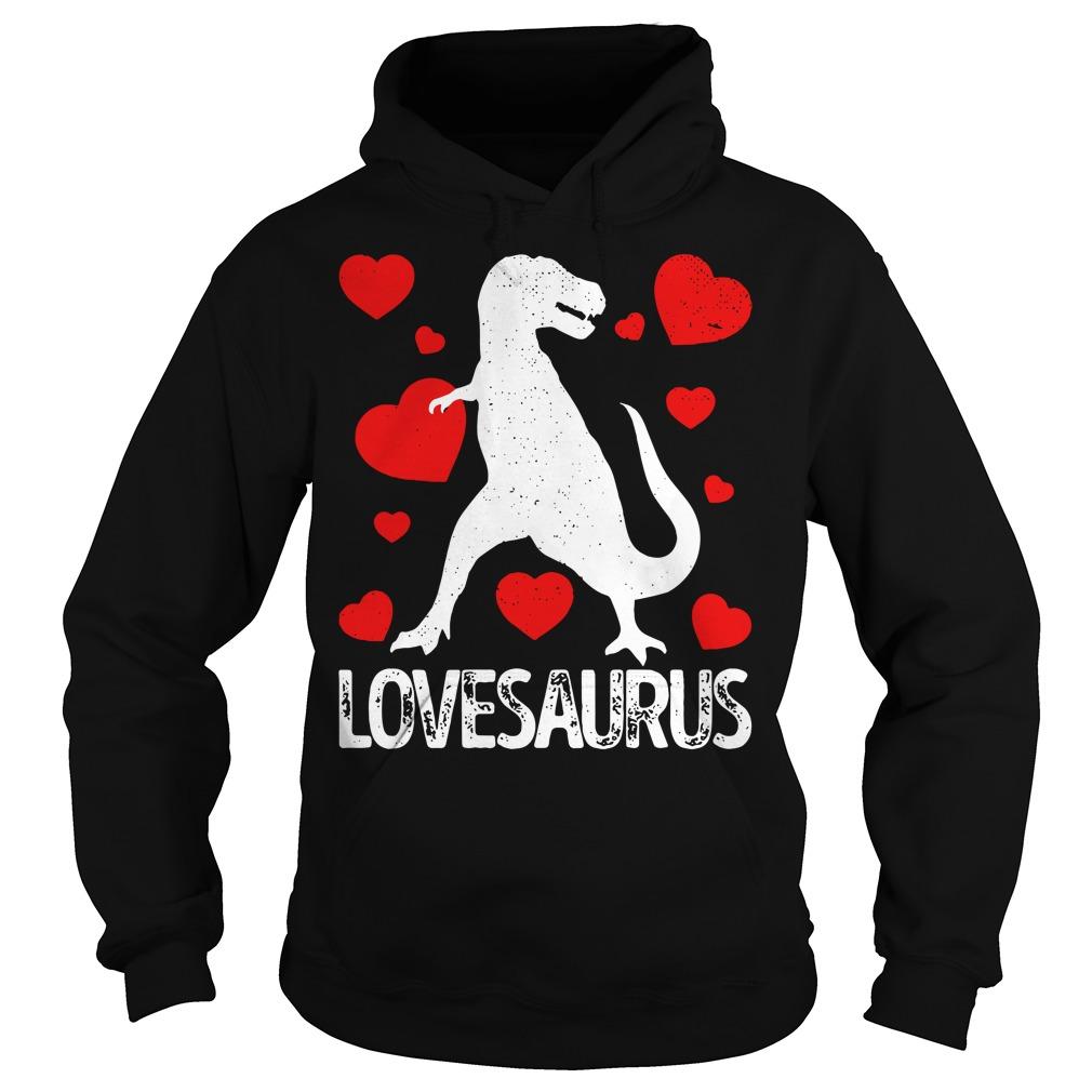 Valentines day Dinosaur lovesaurus Hoodie