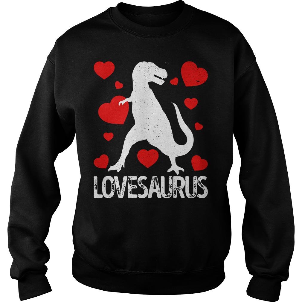 Valentines day Dinosaur lovesaurus Sweater