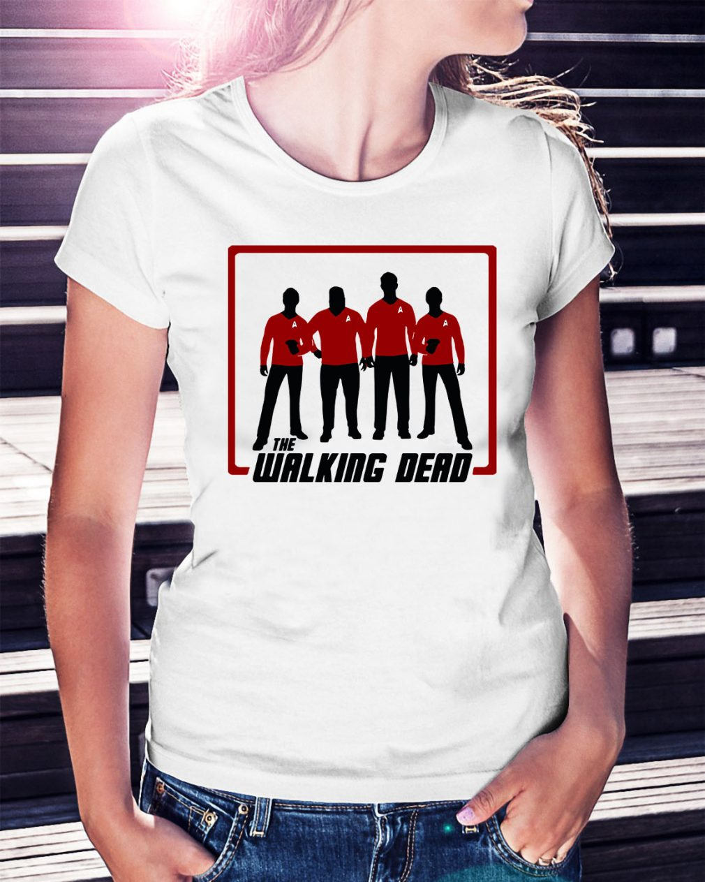The Walking Dead four characters Ladies Tee