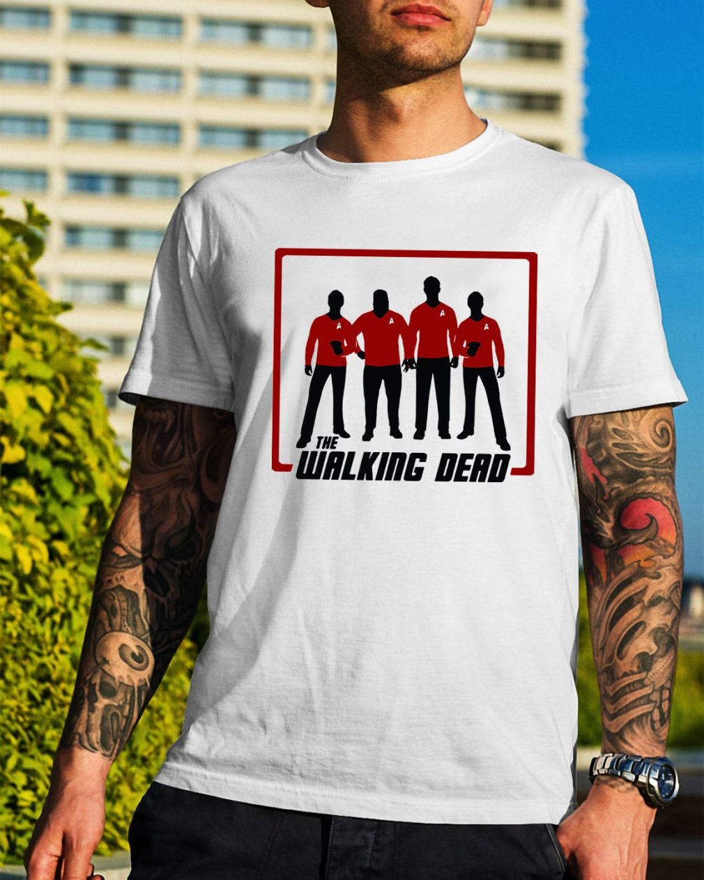 The Walking Dead four characters shirt