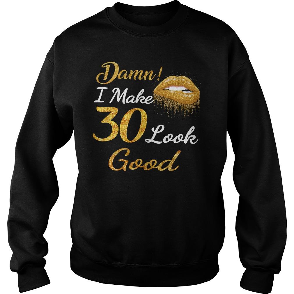 Yellow lips damn I make 30 look good Sweater