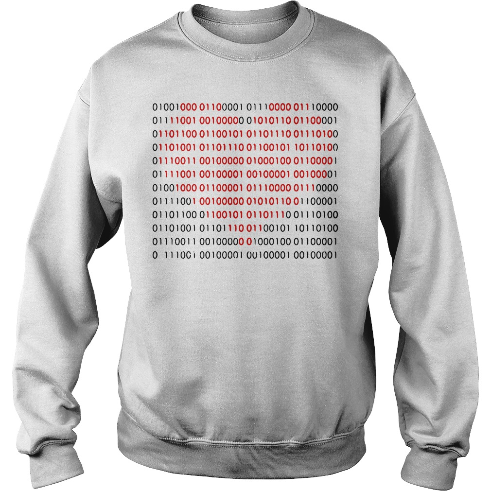 01001000 01100001 01110000 01110000 01111001 heart Sweater