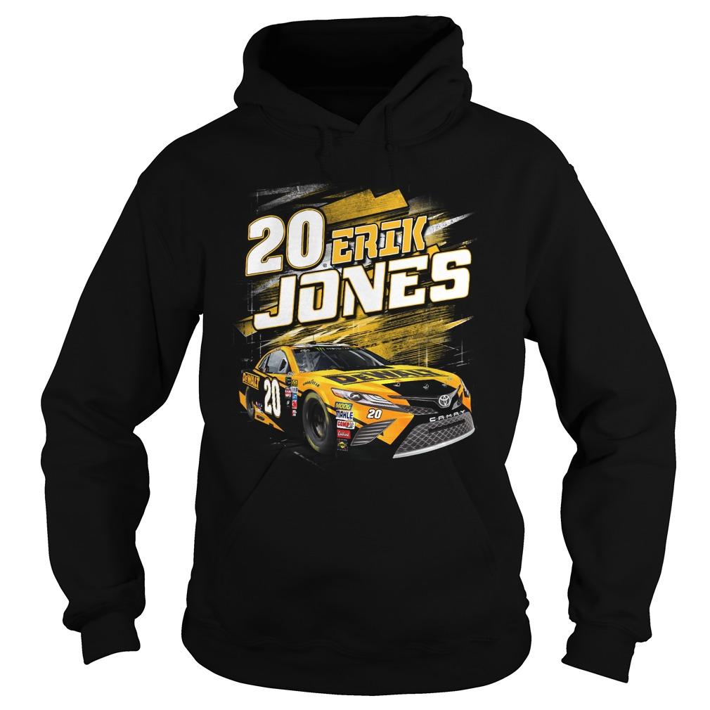 20 Erik Jones Black Dewalt power car Hoodie