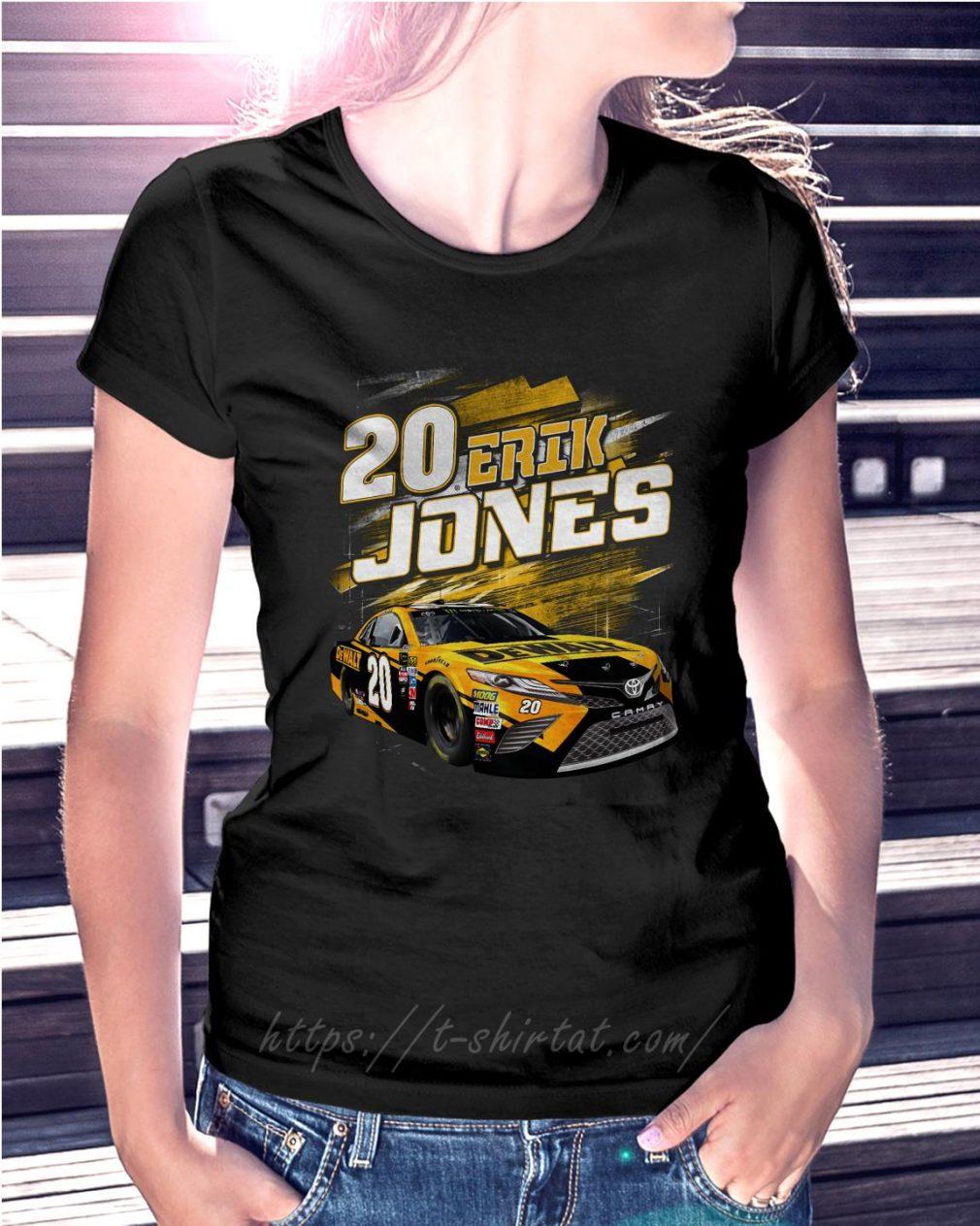 20 Erik Jones Black Dewalt power car Ladies Tee