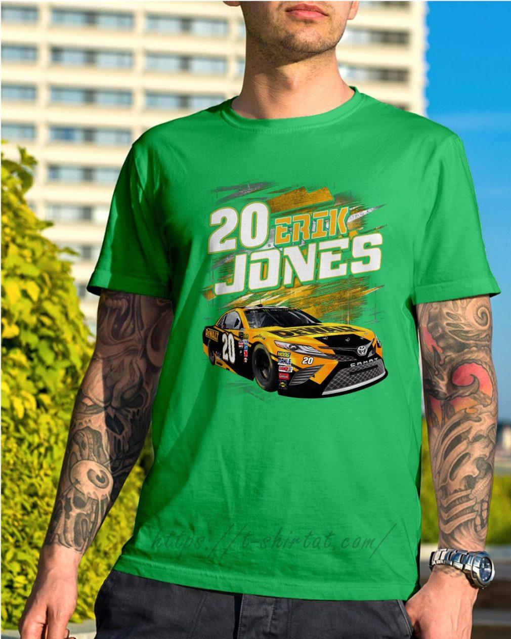 20 Erik Jones Black Dewalt power car Shirt green
