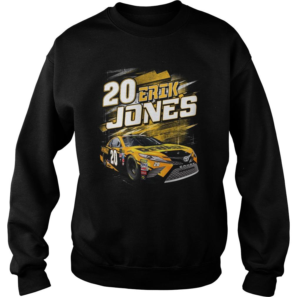 20 Erik Jones Black Dewalt power car Sweater