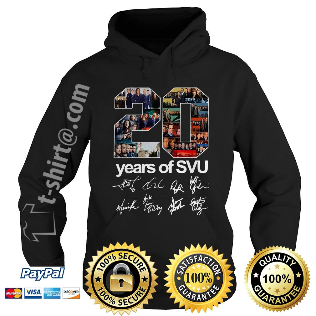 20 Years of SVU law and order all signatures Hoodie
