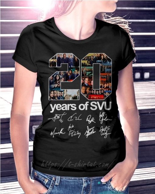 20 Years of SVU law and order all signatures T-shirt
