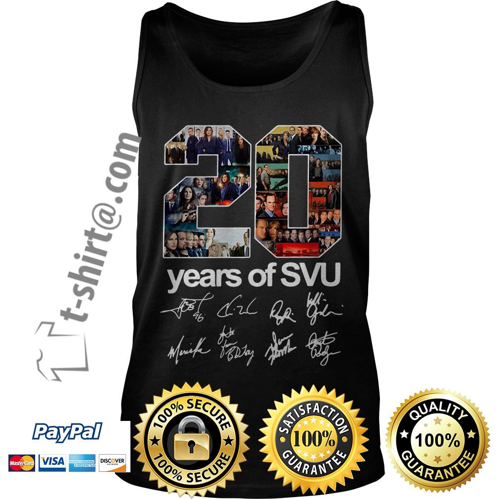 20 Years of SVU law and order all signatures Tank top