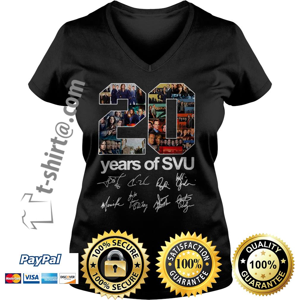 20 Years of SVU law and order all signatures V-neck T-shirt