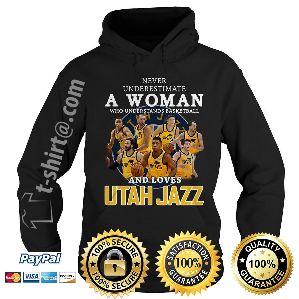 A woman who understands baseball and loves Utah Jazz Hoodie