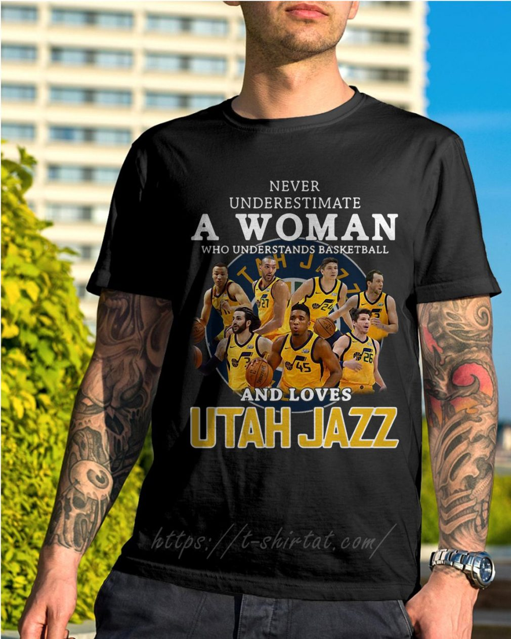 A woman who understands baseball and loves Utah Jazz shirt