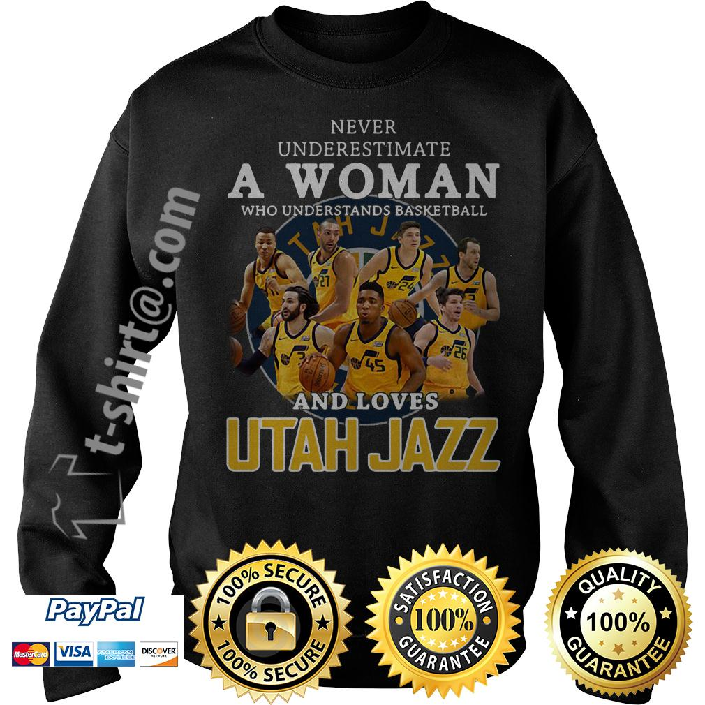 A woman who understands baseball and loves Utah Jazz Sweater